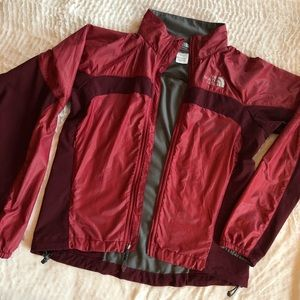 Pink & Burgundy North Face Windbreaker